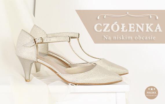 e9eec1a2 Czółenka ślubne na niskim obcasie to buty w których przetańczysz całe  wesele.Przekonaj się!