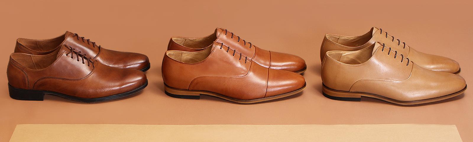 jasny brąz męskie buty na wesele