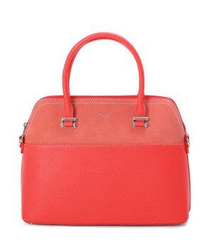 b4d544a2d276f Klasyczna miejska torebka typu kuferek Solla czerwona