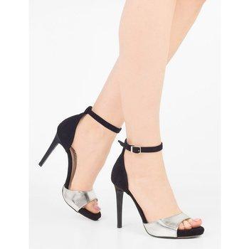 Sandały damskie na szpilce z paskiem czarne roz 37