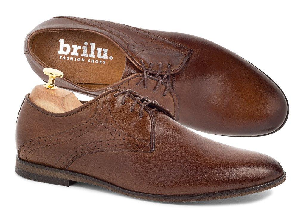 Wyprzedaż kolekcji Brązowe, niebieskie buty skórzane