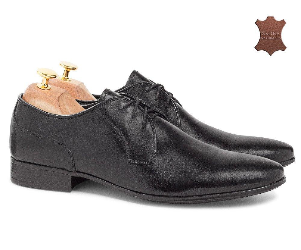 Klasyczne buty wizytowe z otwartą przyszwą Joe czarne
