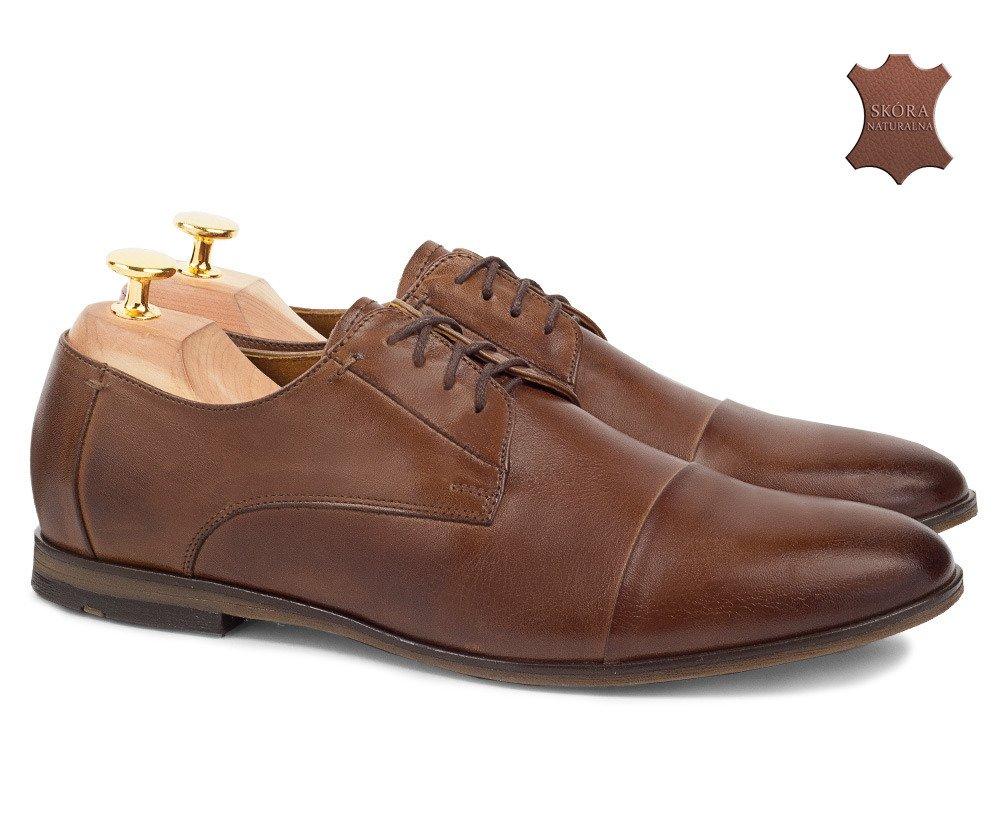 9dc0f8bdfe2b1 Klasyczne skórzane buty wizytowe Oliver brązowe