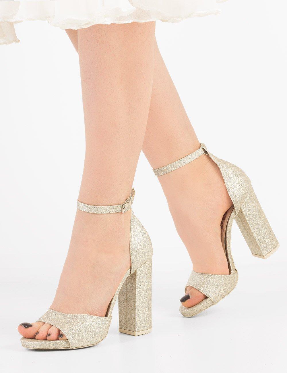 sandały na małej platformie z obcasem