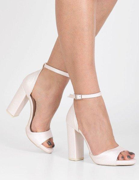 225ebcee Ślubne sandały na platformie z teksturą Valencia różowe | Sklep Brilu.pl