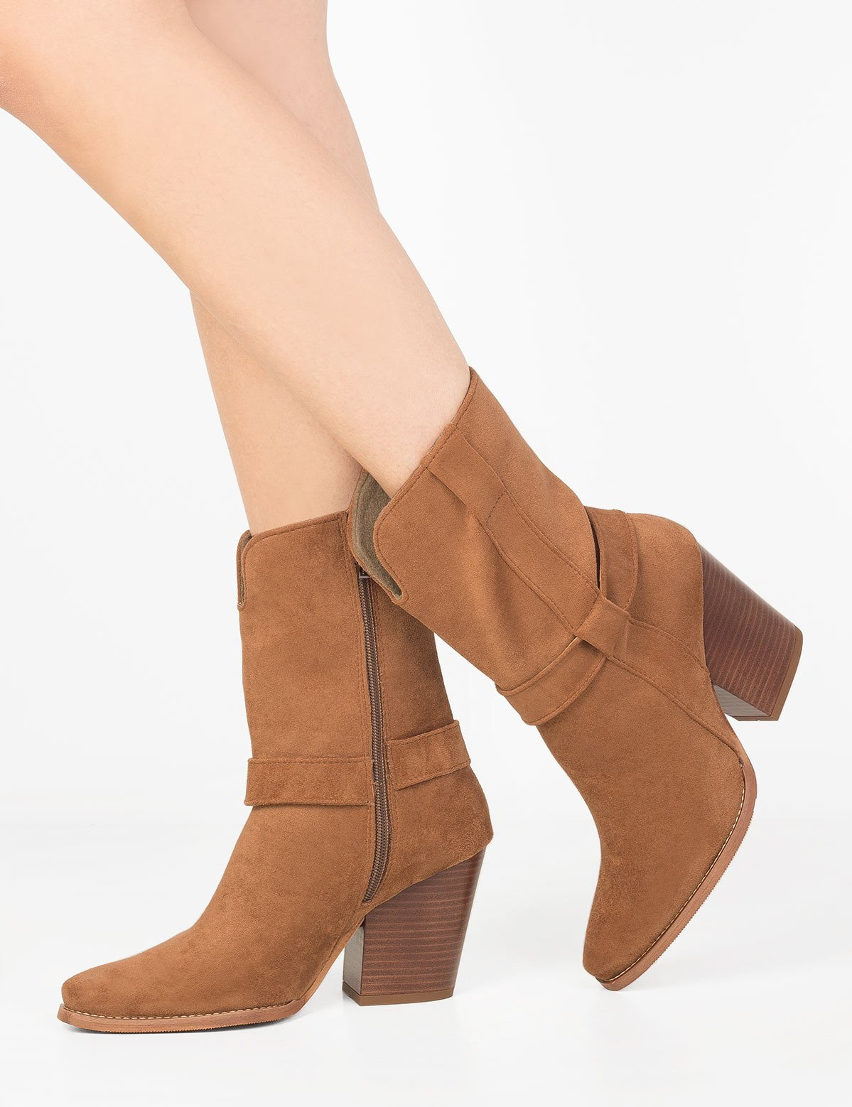 buty damskie z wysoka cholewka zamszowe