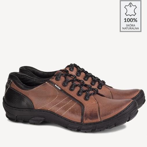 Buty trekkingowe skórzane Hektor czerwone