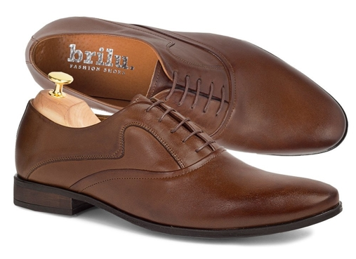Eleganckie skórzane buty wizytowe oxfordy Markus brązowe